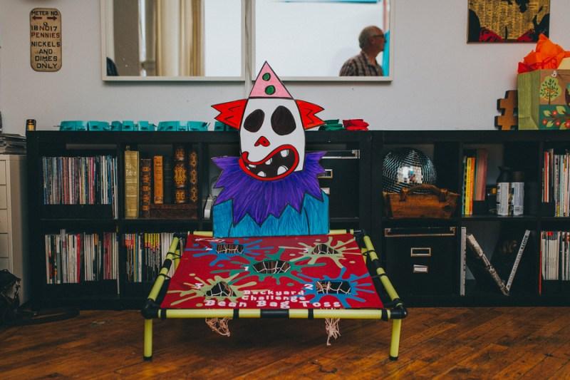 Evil Clown Bed bean bag toss game