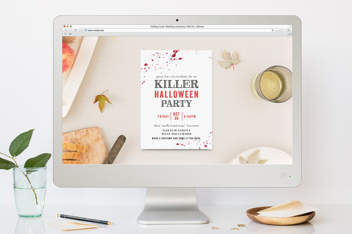 Last-minute online free Halloween party invites for your spooky soiree