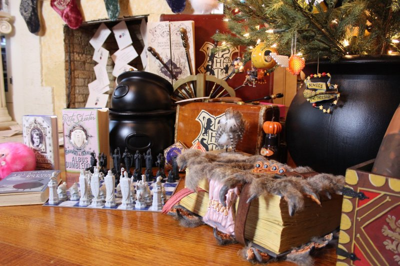 Don your handknit sweaters for this spectacular Christmas at Hogwarts decor
