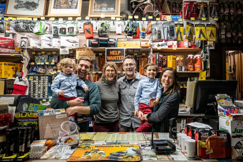 Our laid back family photo shoot at Grandpa's hardware store