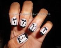 Tuxedo Nail Tutorial: How To Paint Tuxedo Nail Designs ...
