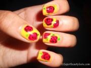create simple rose nail