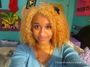 dye dark black hair pastel
