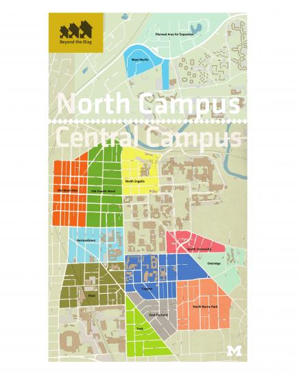 Campus South Map And Umich Central