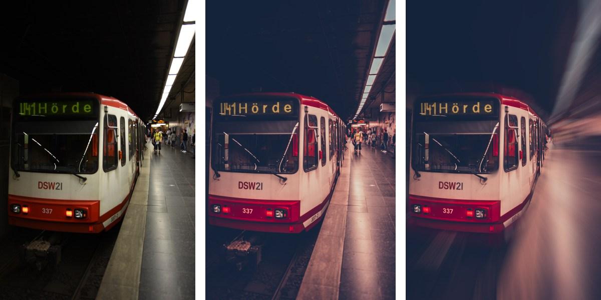 Bildanalyse (#1) – Fahrende U-Bahn