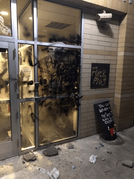 VIDEO: Portland Rioters Attempted to Burn Down East Precinct Police Station