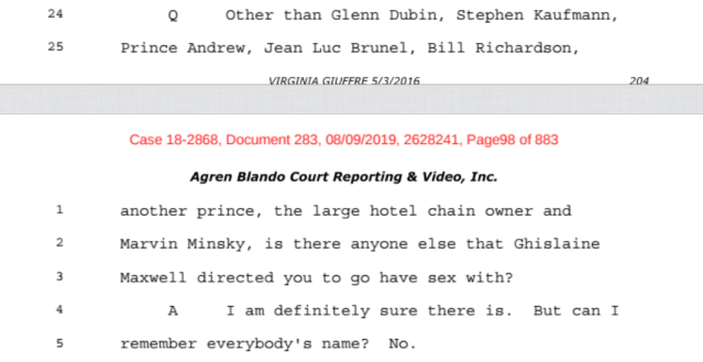 Investigation: The Accusations from the Ghislaine Maxwell Document Release: Part 2 5