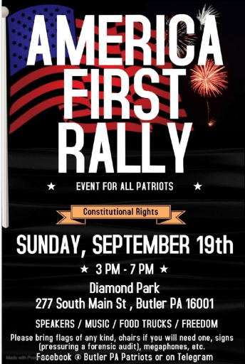 America First Rally in Butler, PA