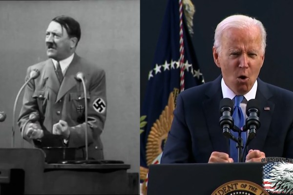 Biden Shouts, Pounds Like a Dictator Over Number of Democracies in the World, or Something
