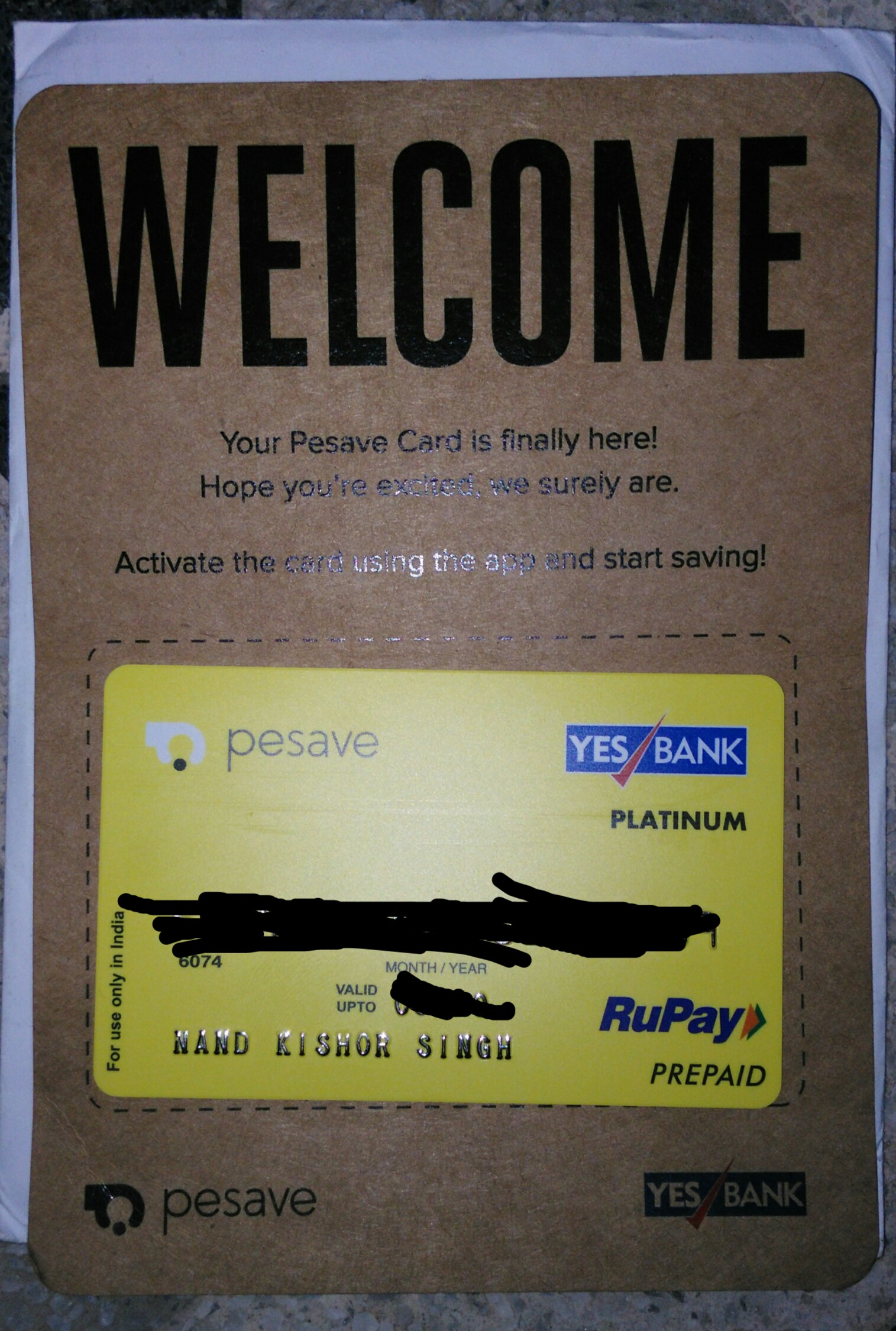 [Proof Added] Pesave App By Yes Bank : Get Rs.50 Joining Bonus + Rs.50 Per Friends + A Free Rupay Debit Card
