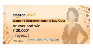Amazon Saheli Women's Entrepreneurship Day Quiz Answers