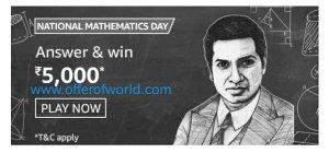 Amazon National Mathematics Day Quiz Answers