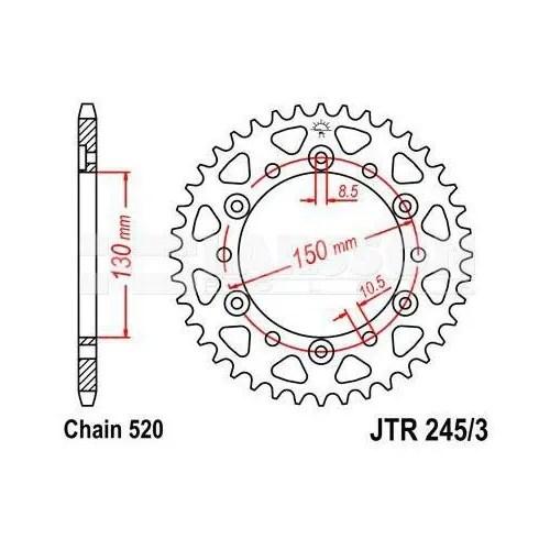 Zębatka tylna stalowa JT 273-42, 42Z, rozmiar 520 2301455