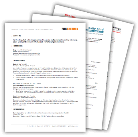 Free Marketing Resume Templates | 10 Samples for Download