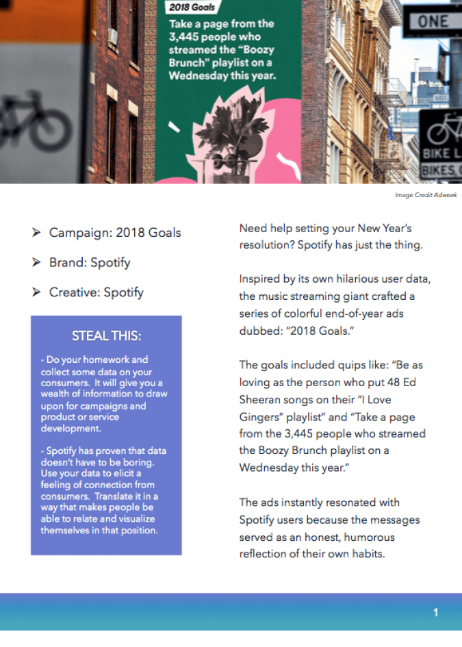 Takeaways from Best Marketing Campaigns -- Spotify