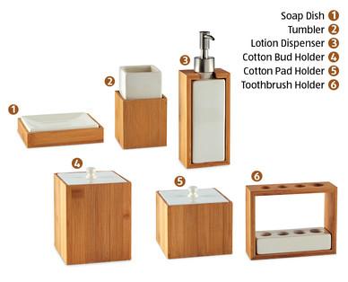 bathroom accessories bamboo - interior design