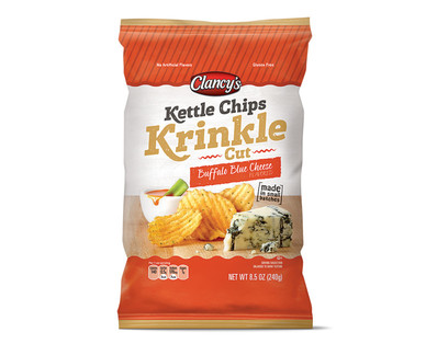 Image result for Clancy's Buffalo Blue Cheese Kettle Krinkle Cut