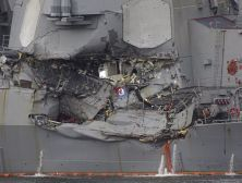 US warship wounded