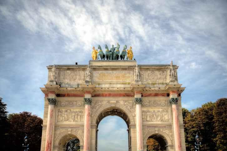 photo of the arc de triomphe du carrousel in paris