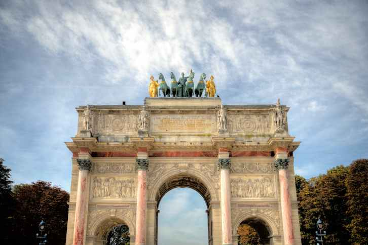 photo of the arc de triomphe du carrousel in paris
