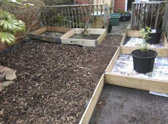 new beds in place