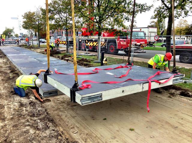 solar roadway construction