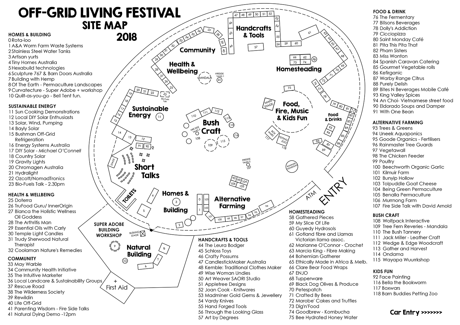 OffGridLivingFestival - Site Map SML