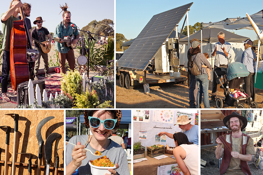 Exhibitors at the Off-Grid Living Festival. Teaching people about off-grid living. Learning about off grid living and sustainability.