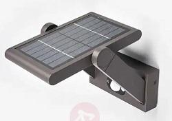 Lucande Solar LED Outdoor Wall Light Valerian