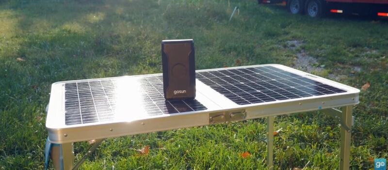 GoSun Brew Coffee Maker with GoSun Solar Table
