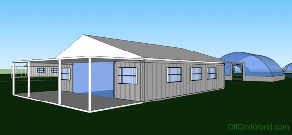 1280sqft 3BR 1BA Shipping Container Home