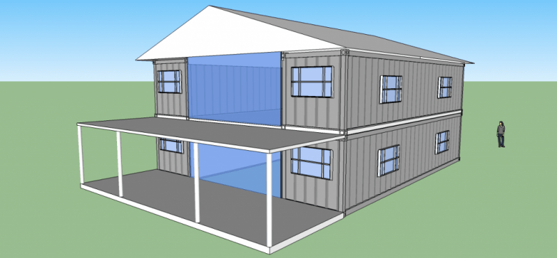 2560sqft 5BR 2BA 2 Story Shipping Container Home For 50k  Off Grid World
