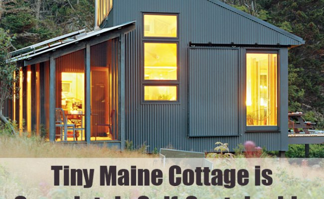 Tiny Maine Cottage Is Completely Self Sustainable Off