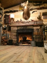 Amazing Rustic Cabin Man Cave Built in Basement for $107 ...