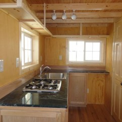 Propane Kitchen Stove Childs Gorgeous Little 200sqft Cabin Built By Father & Son - Off ...