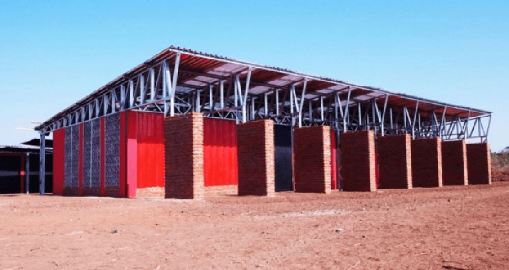 Shipping container school in Malawi