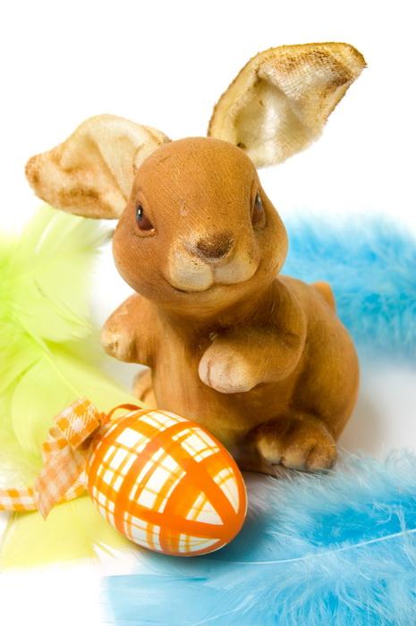 Lustiger Hase Mit Ostereiern