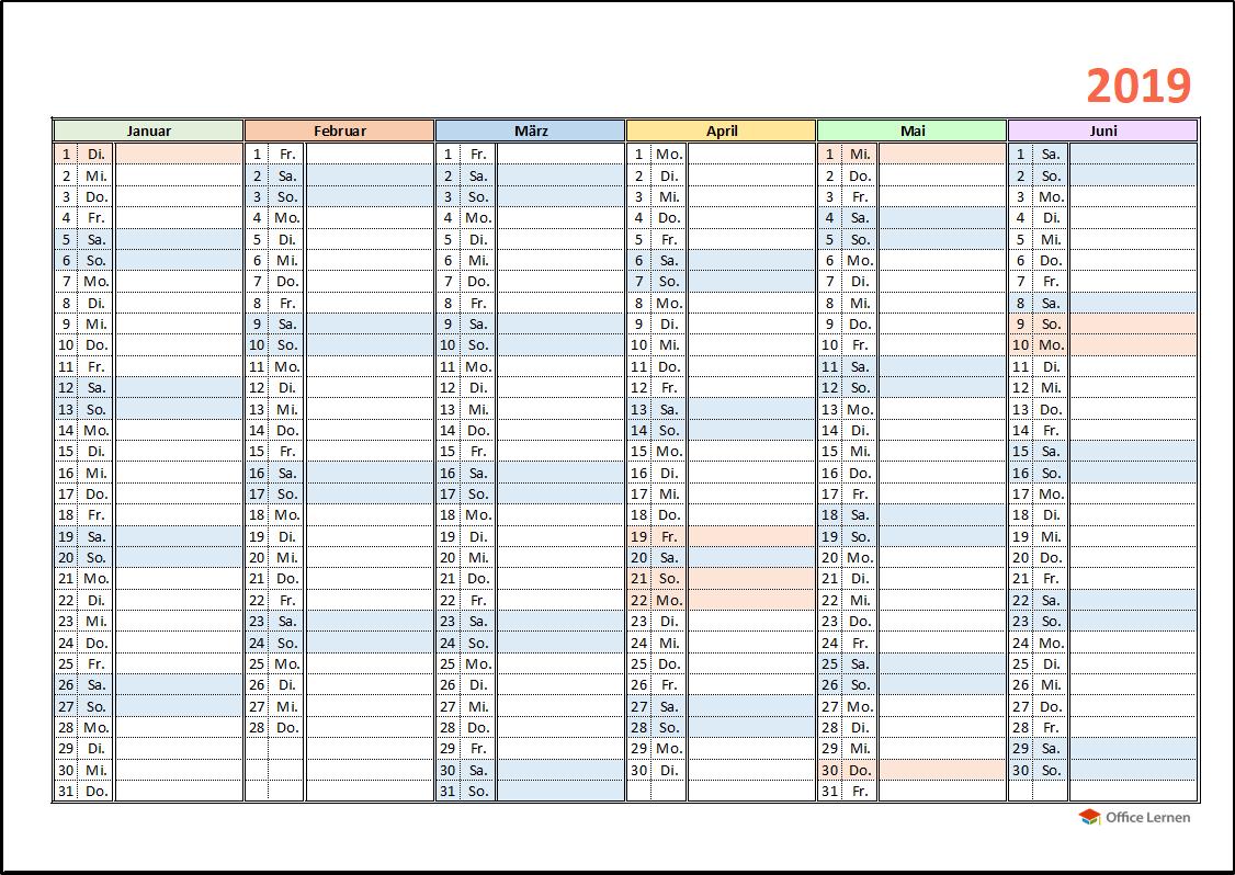 Tischkalender 2019 Kostenlos - Kalender Plan
