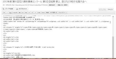 Wordpress ビジュアルエディタ