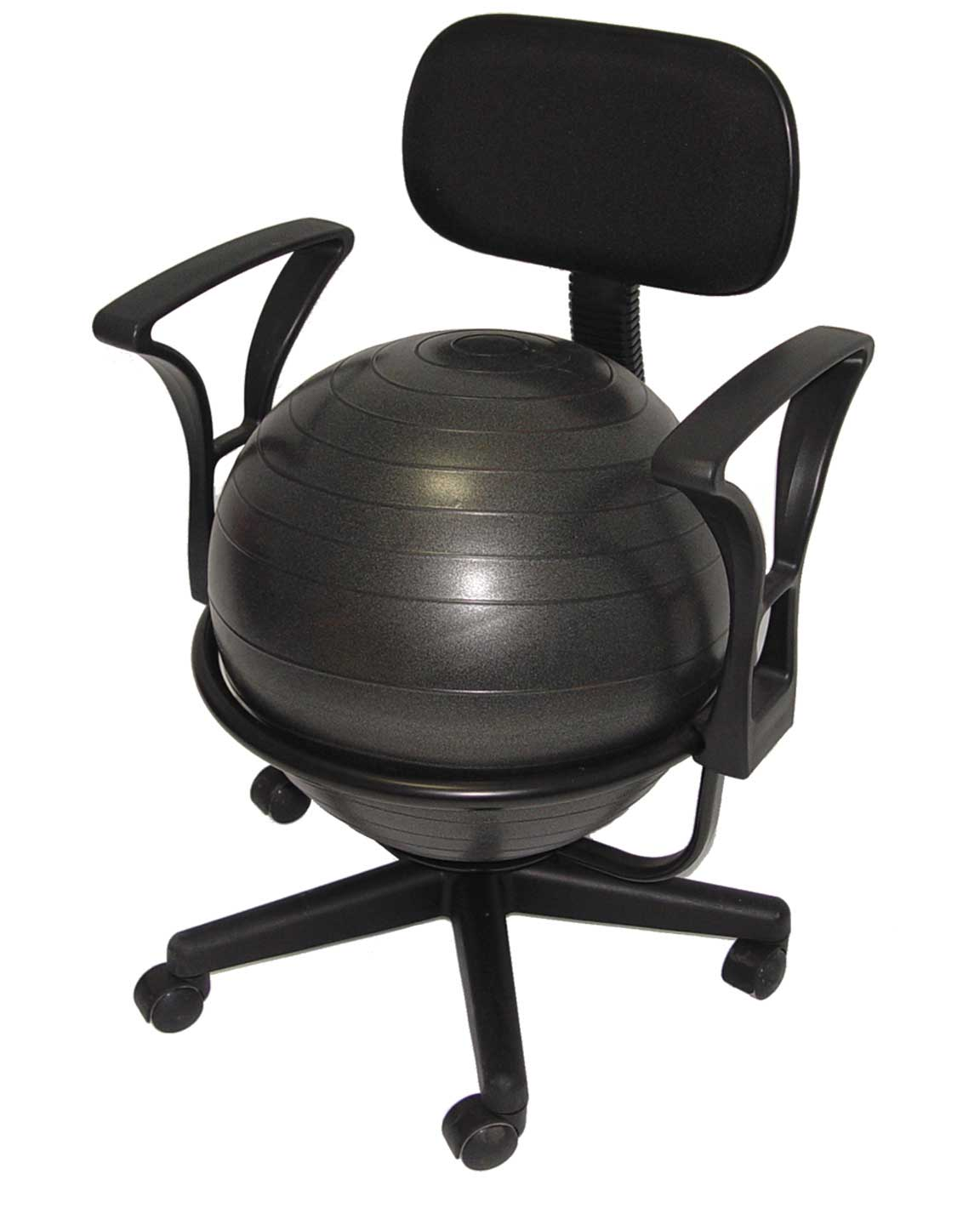 exercise ball office chair size leather reception chairs ergonomic for