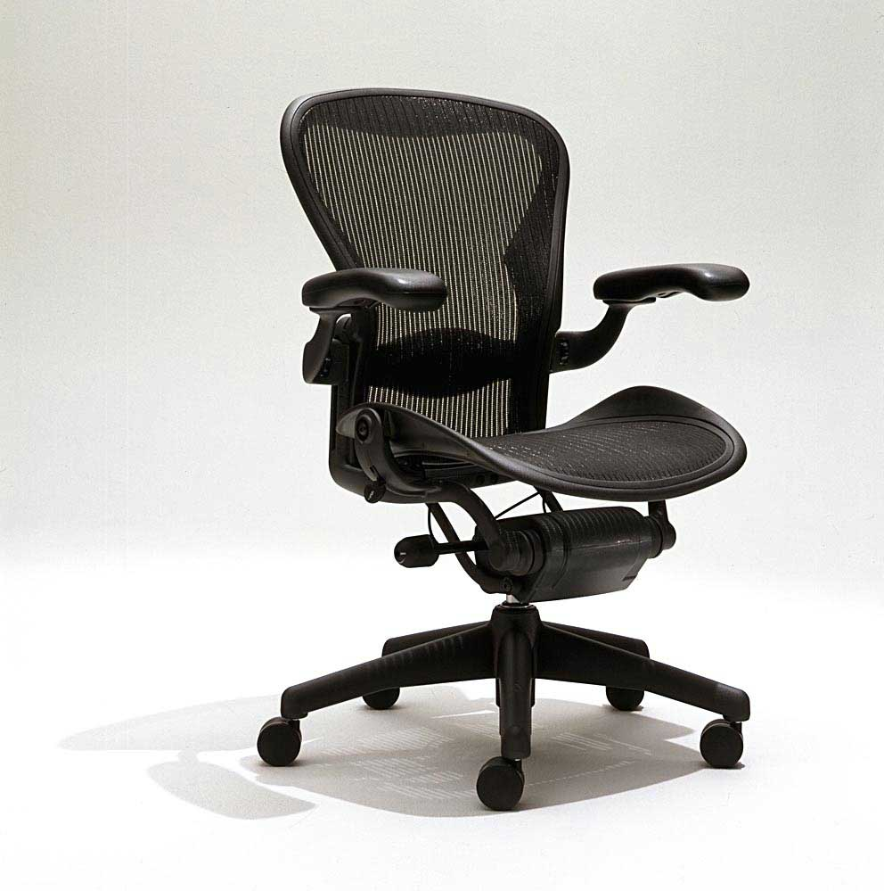 aeron chair herman miller manual antique wood high ergonomic computer features