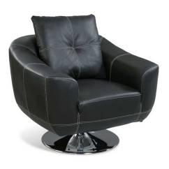 Leather Swivel Chair Long Lounge Chairs For Home Office User