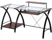 Z-Line Glass Computer Desk for Home Office