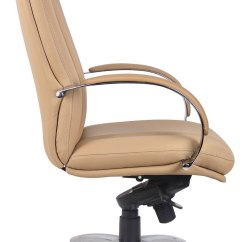 Posture Executive Leather Chair Tufted Barrel Office Chairs For
