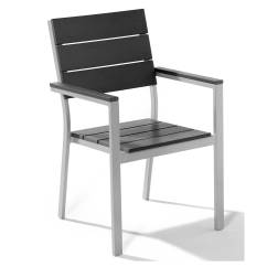 Black Metal Patio Chairs Grey Upholstered Chair White Legs Lawn As Plastic Alternative