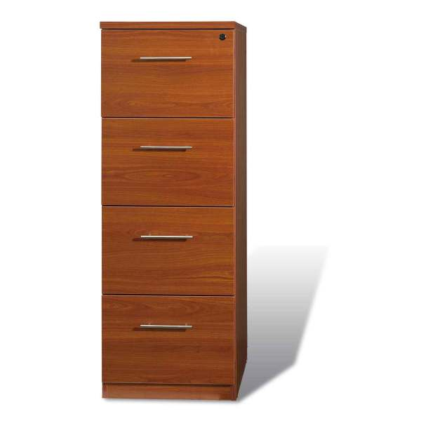 4 Drawer Wood File Cabinet Office