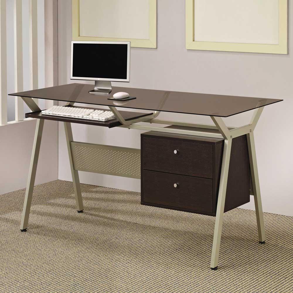 Glass Computer Desks for Home Office