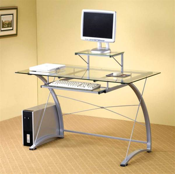 Glass Top Computer Desks for Office