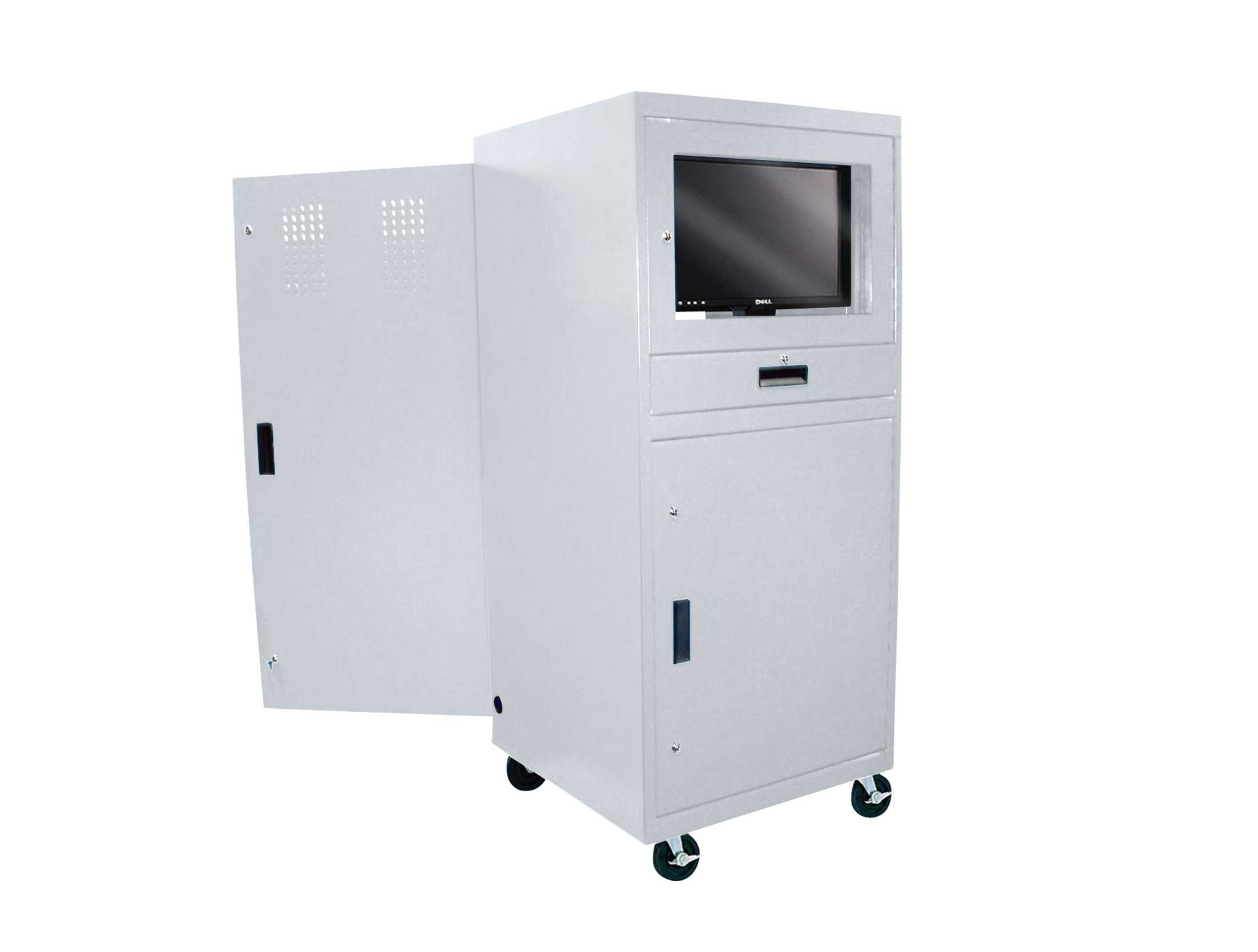 Mobile Computer Cabinet for Security and Mobility