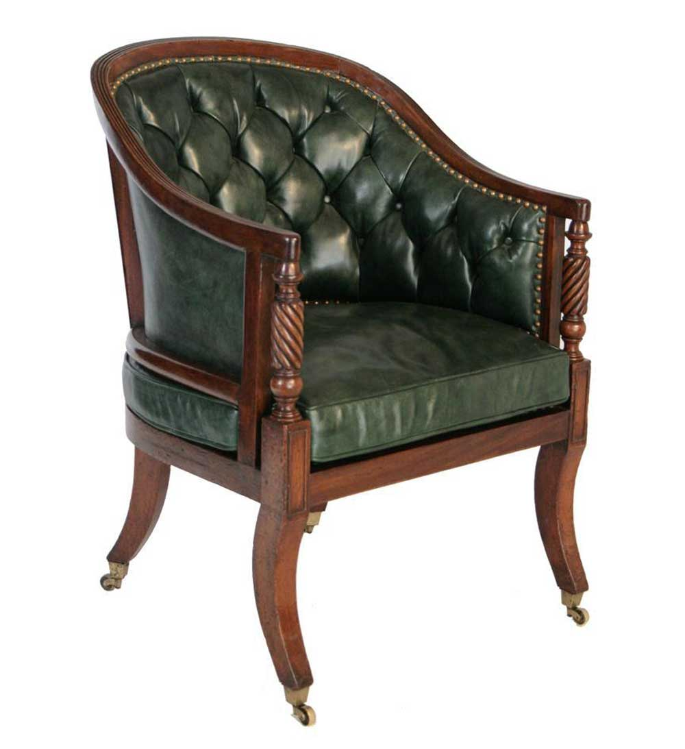 hudson leather round tub chair  Office Furniture